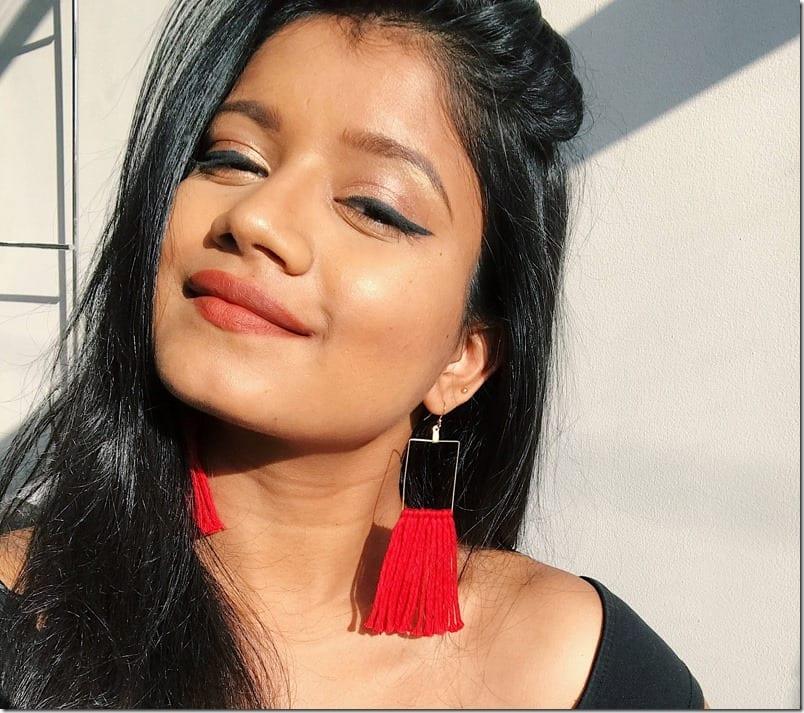 geometric-red-tassel-earrings
