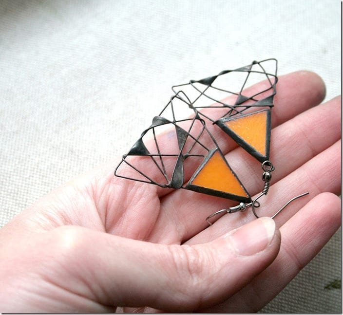 orange-triangle-stained-glass-earrings