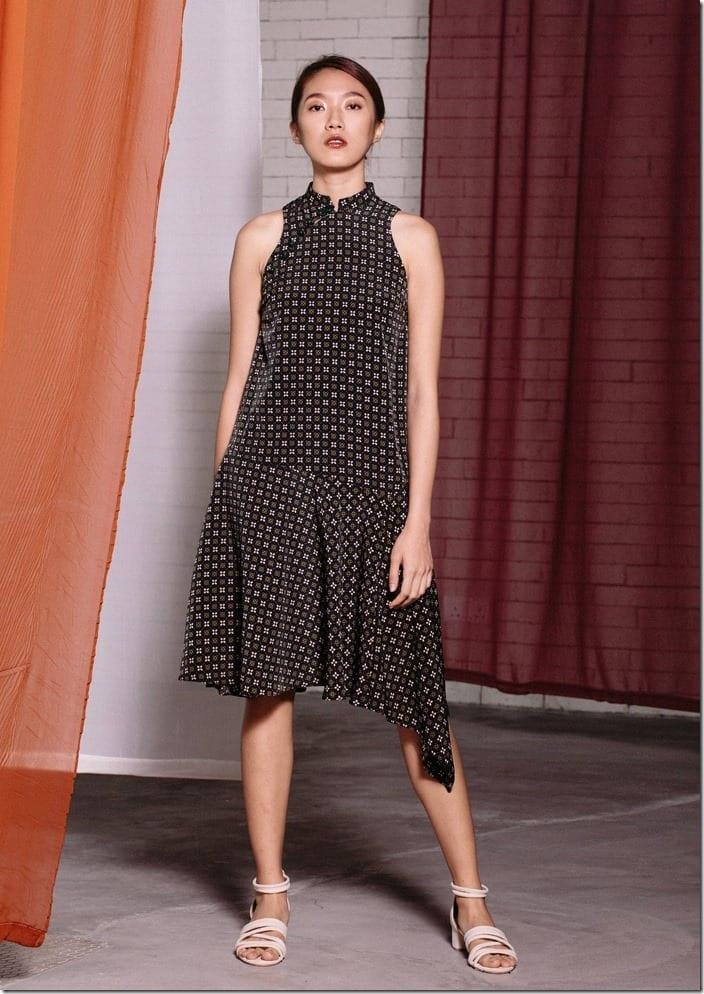 racer-sleeve-asymmetrical-midi-cheongsam-dress