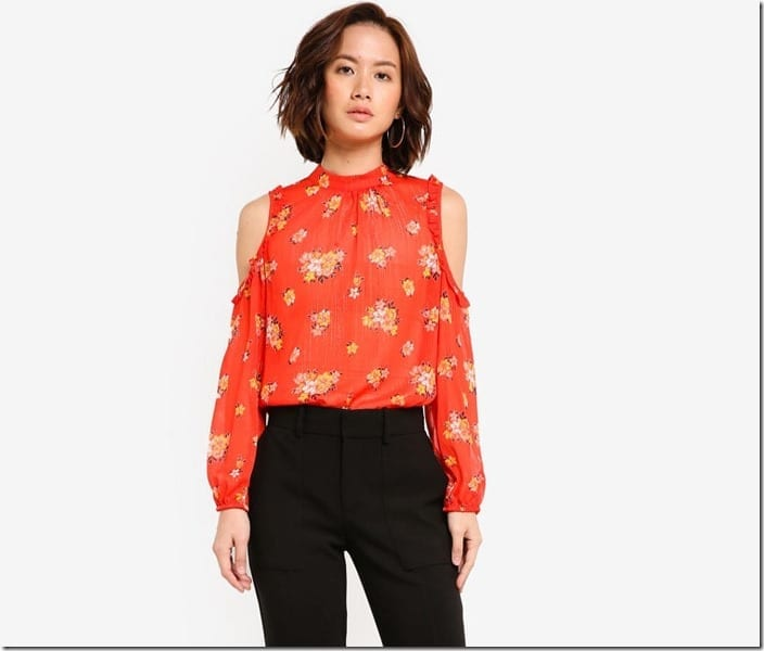 red-floral-cold-shoulder-top