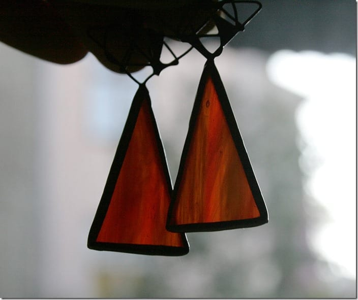 red-long-triangle-stained-glass-earrings