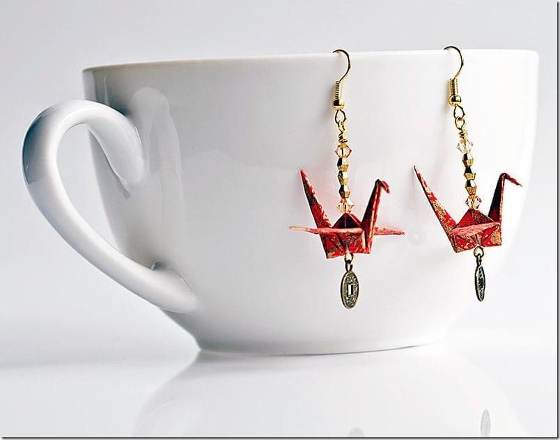 red-origami-crane-earrings