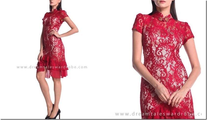 red-ruffle-hem-cheongsam-dress