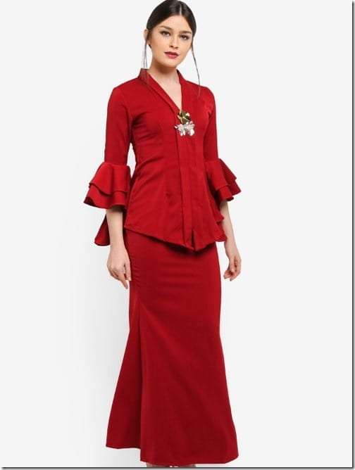 red-tiered-ruffle-sleeve-kebaya-set
