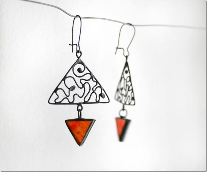 red-triangle-stained-glass-earrings