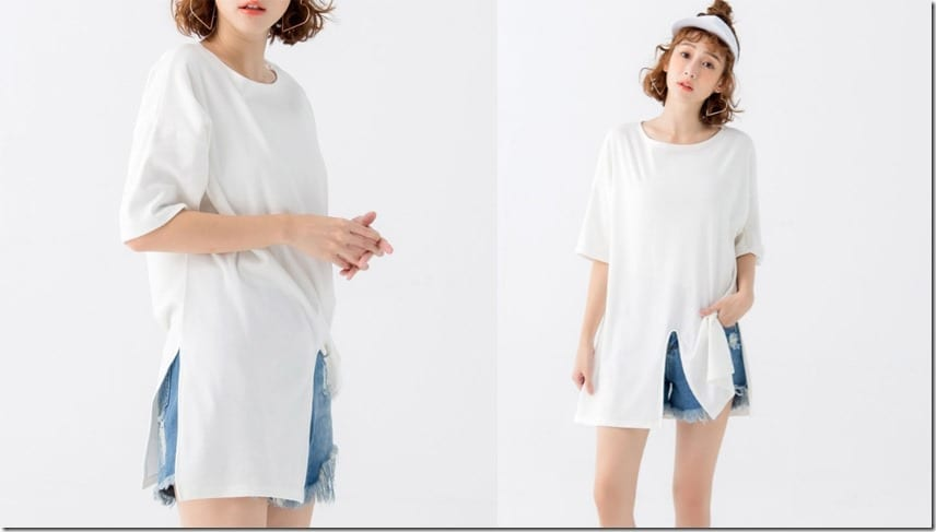 slashed-hem-oversized-tee