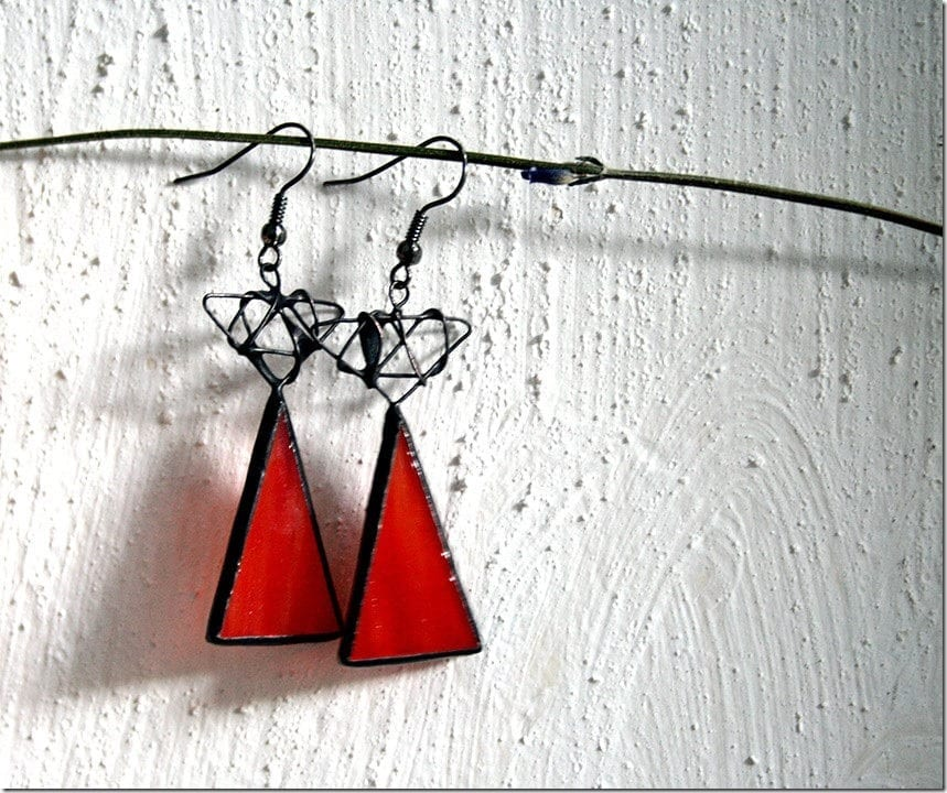 Mesmerizing Stained Glass Geometric Earrings