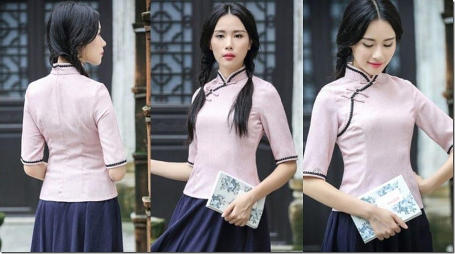sweet-pink-cheongsam-top