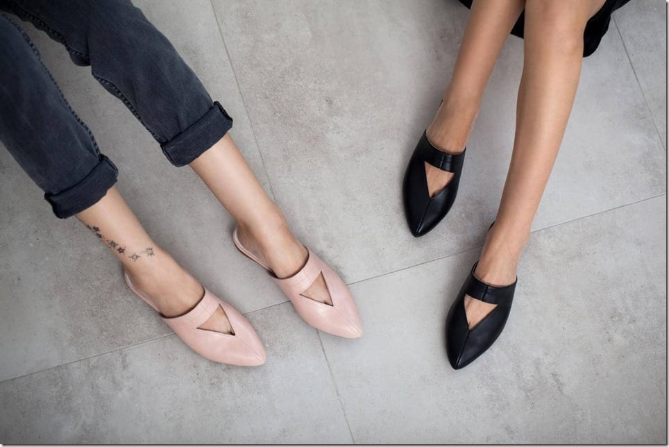 Pointed Mules With Triangle Cut Out Style For A Unique Shoe Statement