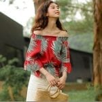 Fashionista NOW: Red Tropical Print Blouse Ideas For Your CNY 2018 OOTD