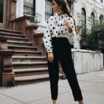 Fashionista NOW: How To Style A Polka Dot Blouse?