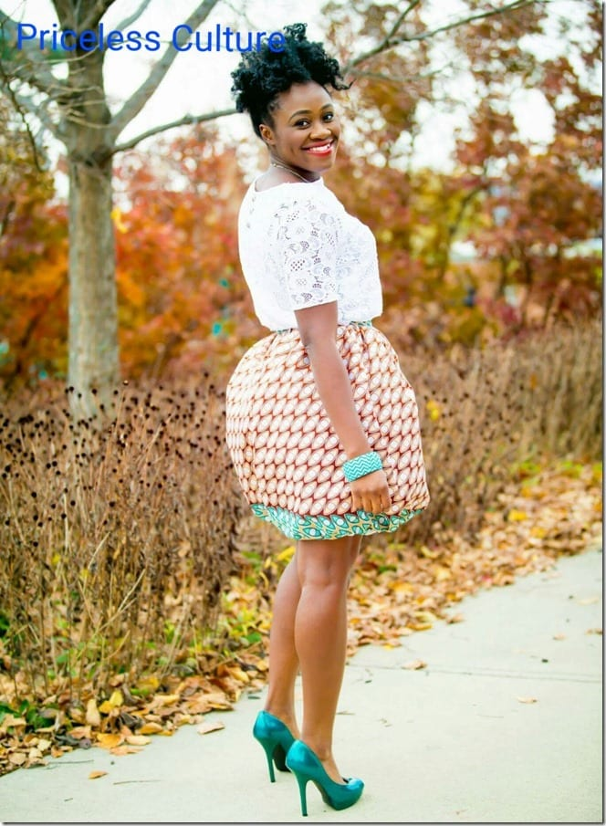 ankara-print-bubble-skirt