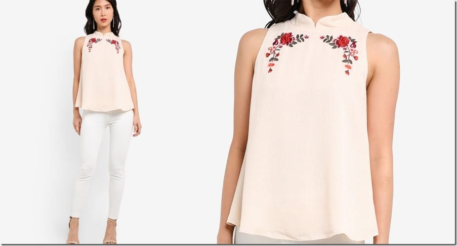 beige-embroidered-mandarin-collar-top