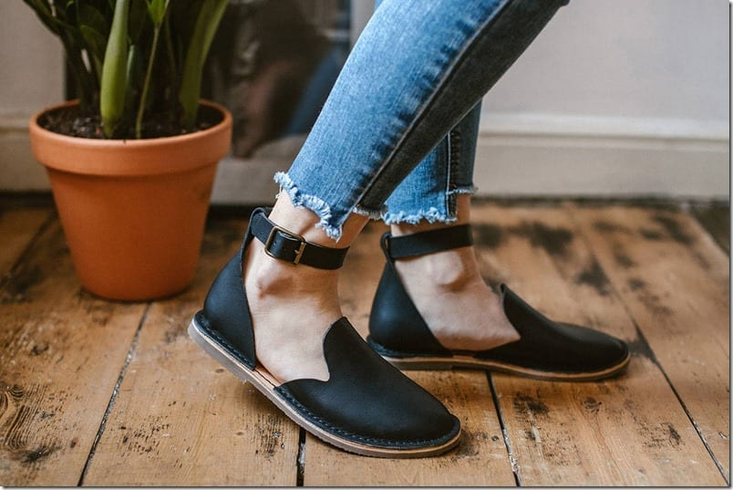 black-ankle-strap-loafer-sandals