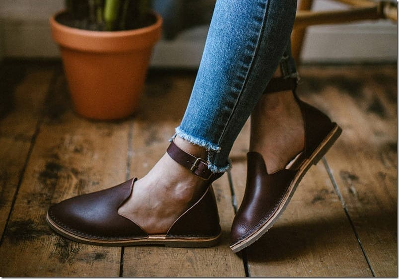 brown-ankle-strap-loafer-sandals