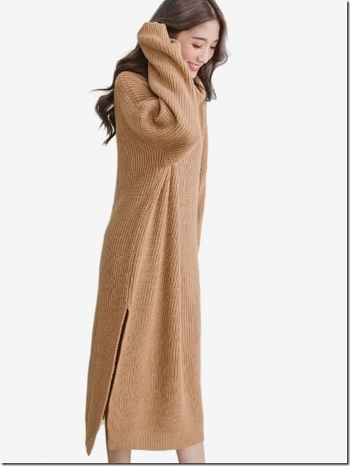 brown-high-neck-sweater-knit-dress