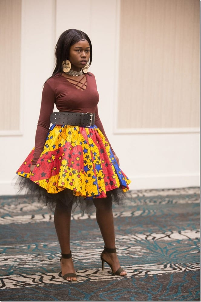 colorful-star-ankara-skirt