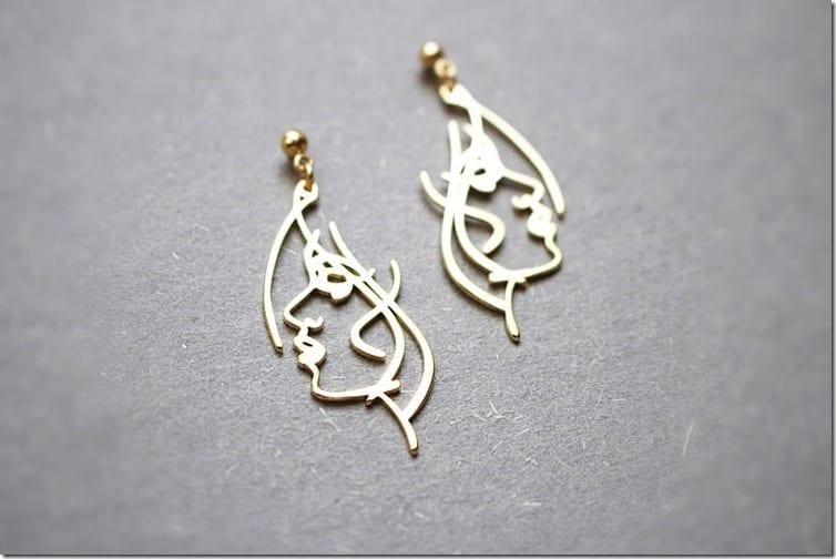 dainty-geometric-girl-face-earrings
