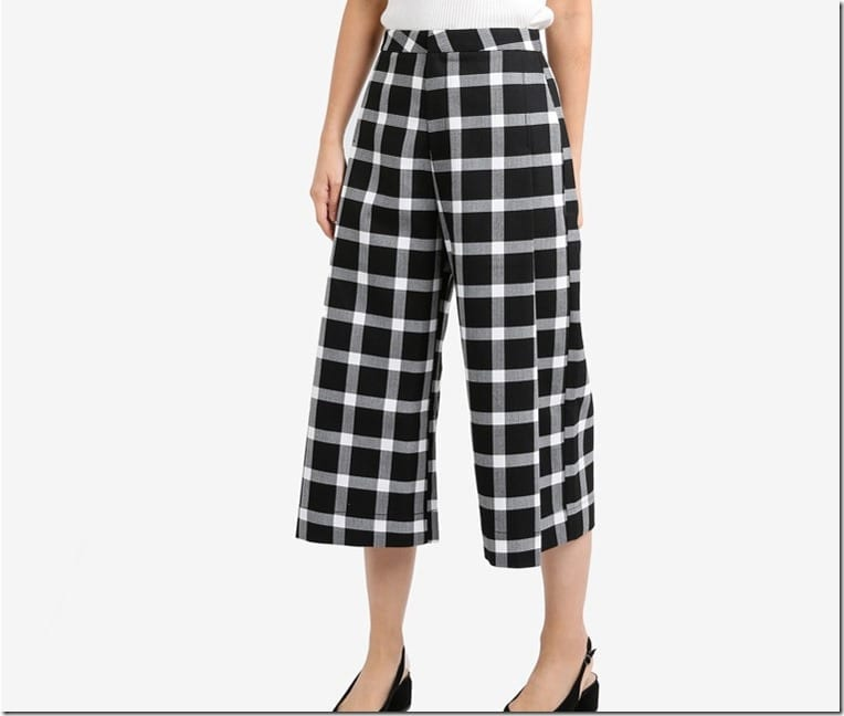 gingham-plaid-pleated-culottes