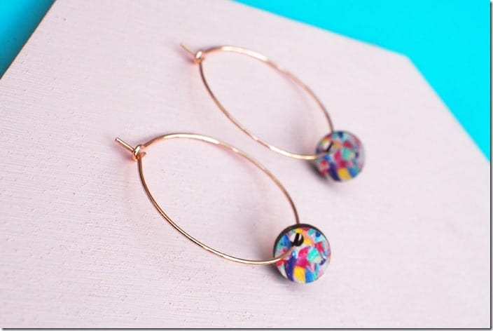 gold-hoop-colorful-disc-earrings