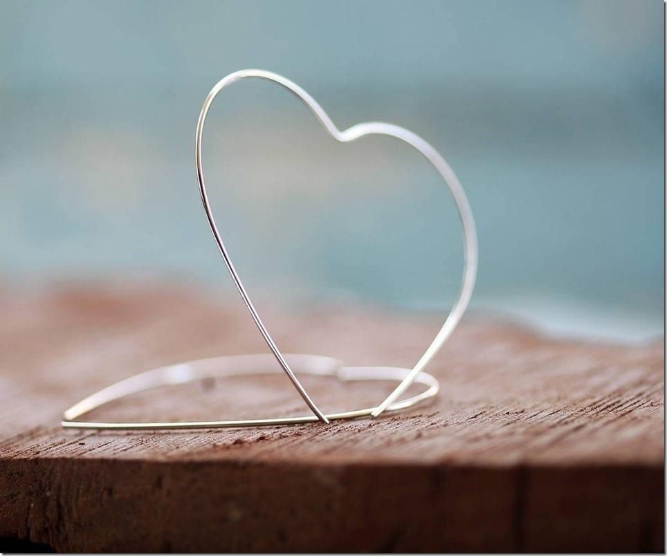 Heart Hoop Earrings Jewelry Style Idea For Valentine's Day