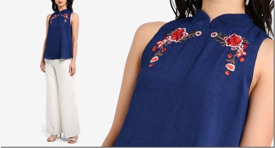 navy-embroidered-mandarin-collar-top