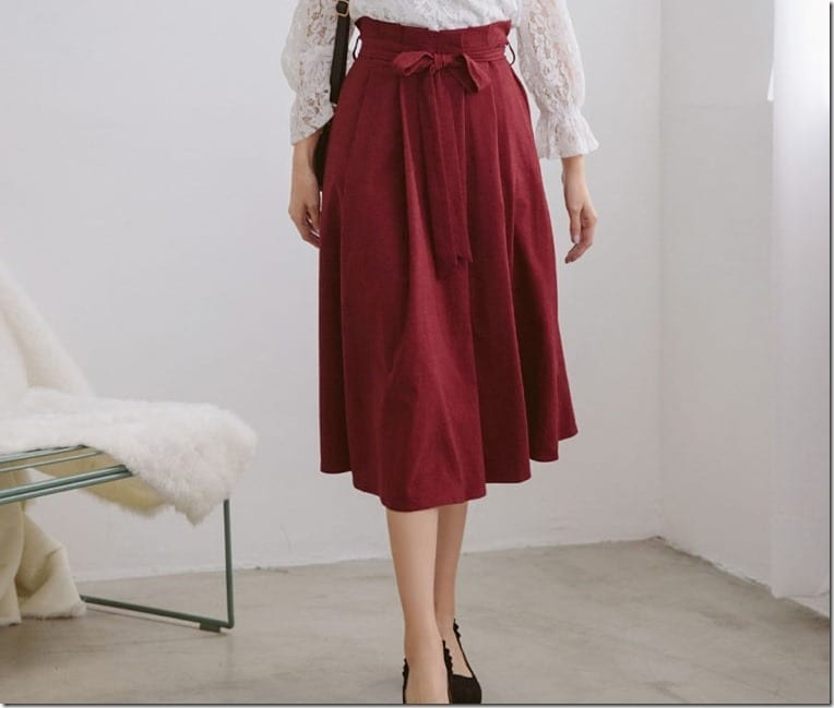 The Paperbag Waist Midi Skirt Fashion Trend