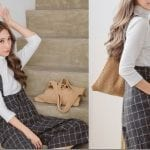 Fashionista NOW: The Pinafore Culotte Jumpsuit Style In Chic Plaid