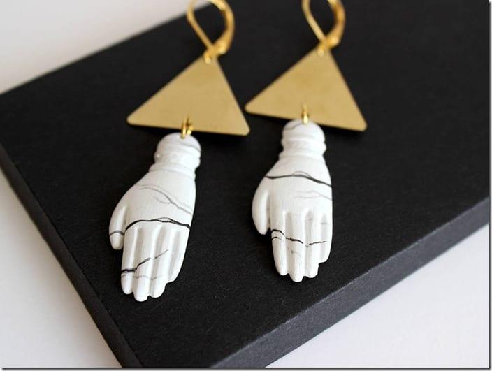triangle-white-hand-charm-earrings