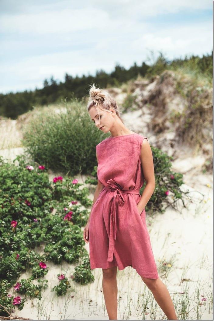 back-v-neck-linen-dress