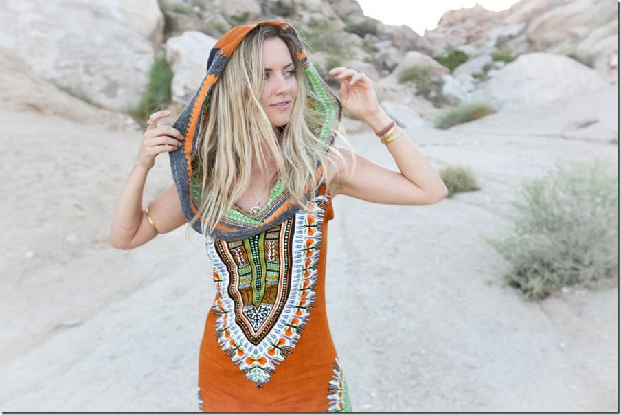 burnt-orange-tribal-hoodie-dress