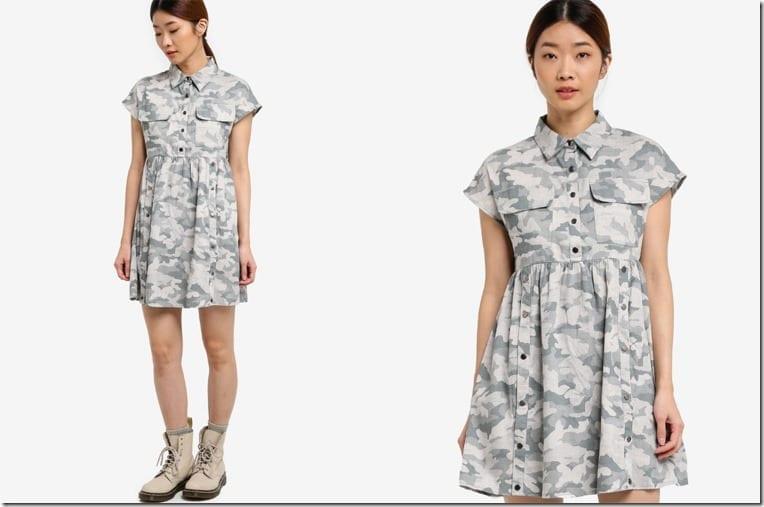 camo-mini-babydoll-dress