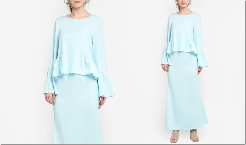 frilly-mint-peplum-kurung