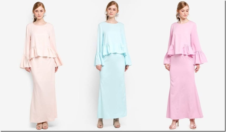 A Minimalist Frilly Peplum Modern Kurung Style For Your Raya 2018 OOTD
