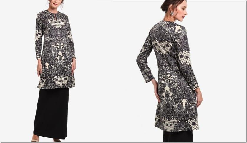 monochrome-lace-kurung-pahang