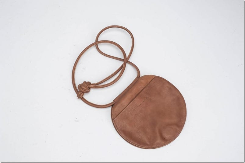 round-brown-leather-bag