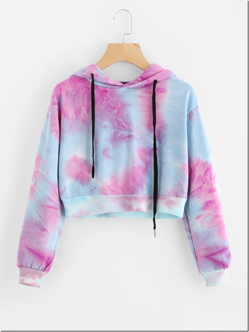 watercolor-print-crop-hoodie