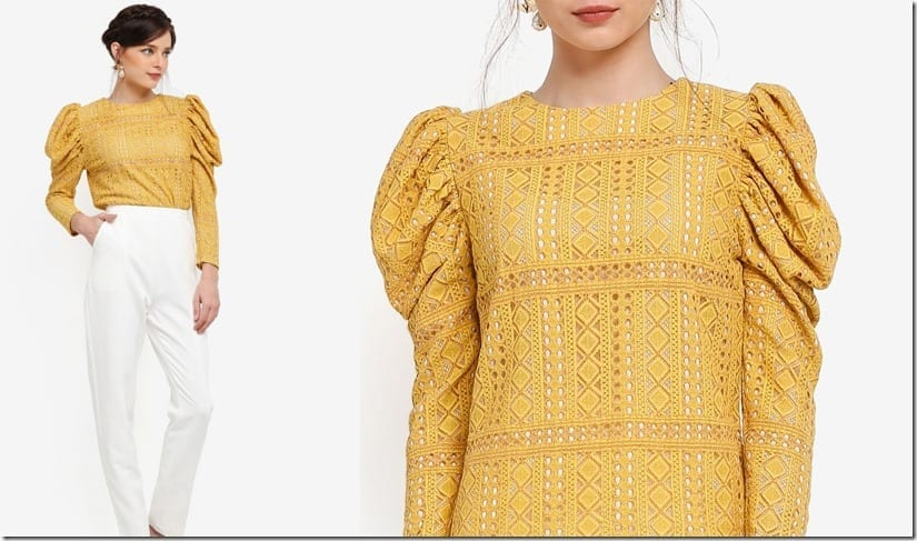 yellow-gigot-sleeve-blouse