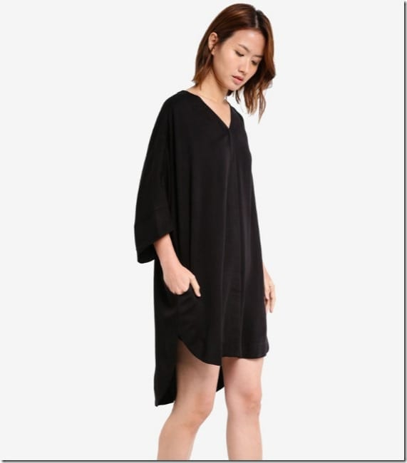 black-dolman-sleeve-slouchy-dress