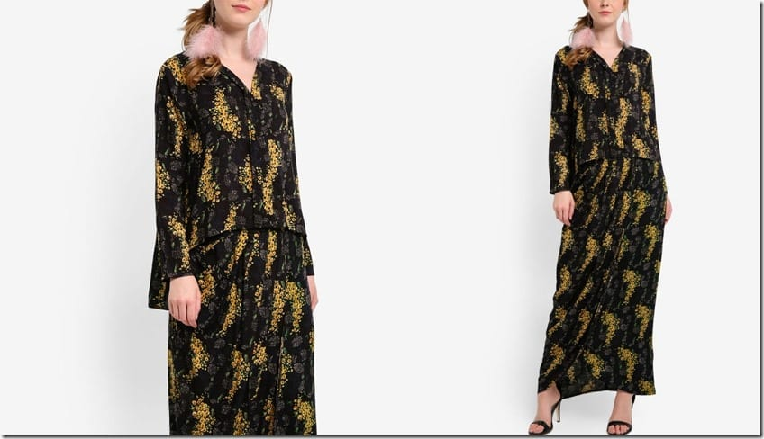 black-floral-high-low-flare-kebaya