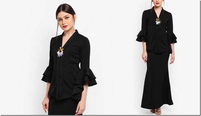 black-tiered-sleeve-kebaya