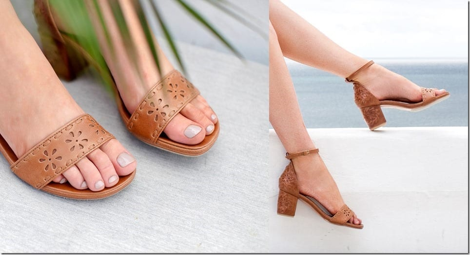 Block Heel Leather Sandals For A Hypnotizing Summer Shoe Game