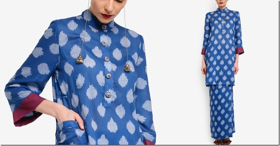 blue-abstract-cotton-mandarin-collar-kurung