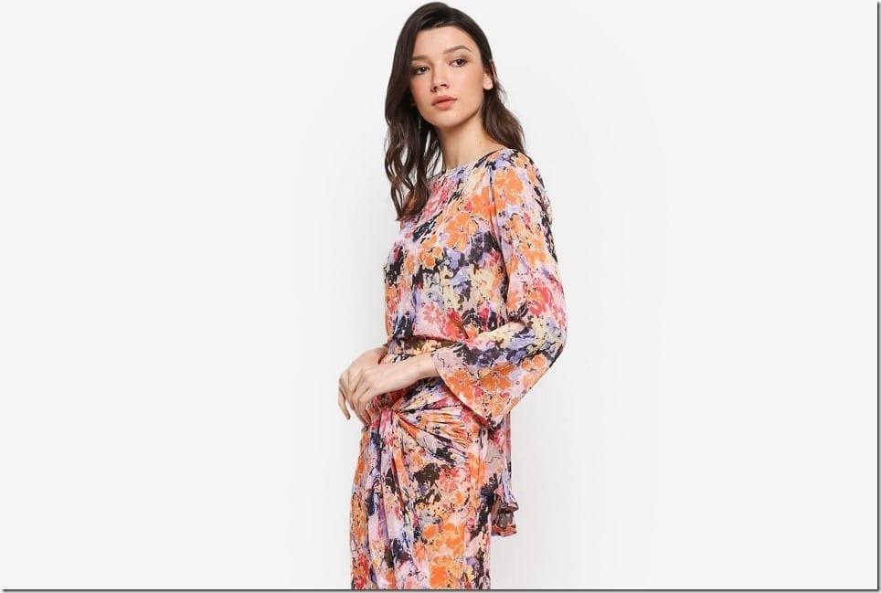 Baju Raya 2018 Idea ~ Floral Wrap Kurung Style