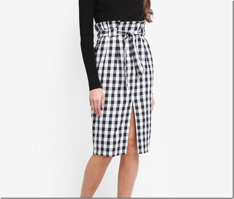gingham-paperbag-pencil-skirt