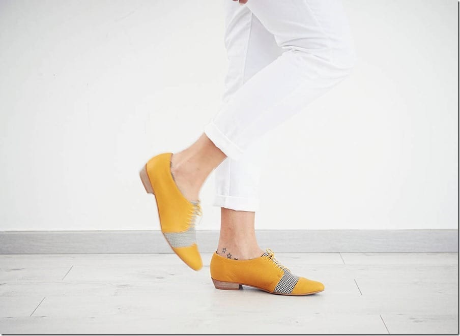 Bright Yellow Shoes For Your Happy Feet