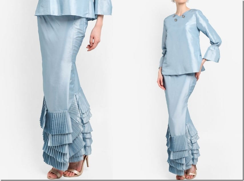 The Kurung And Kebaya With Pleated Mermaid Skirt Style For Raya 2018