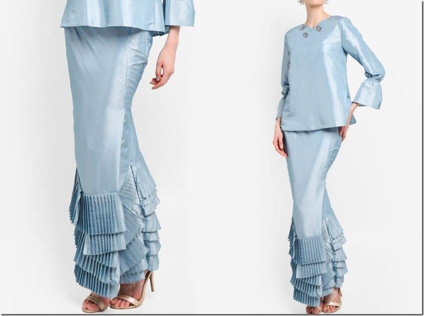 The Kurung And Kebaya With Pleated Mermaid Skirt Style For Raya 2018