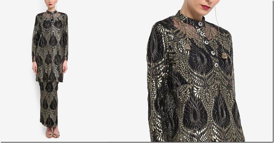 metallic-indian-lace-mandarin-collar-kurung
