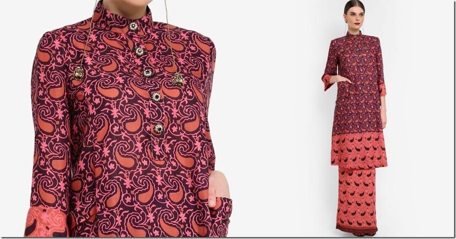 paisley-print-cotton-mandarin-collar-kurung